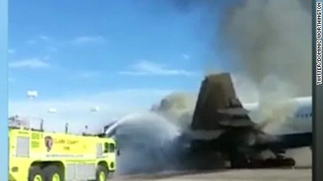 british airways vegas plane fire dan simon newday dnt_00003306