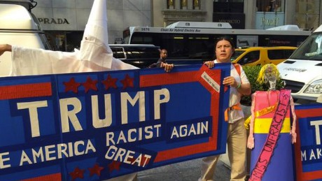 Half the country thinks Donald Trump is a racist. HALF.