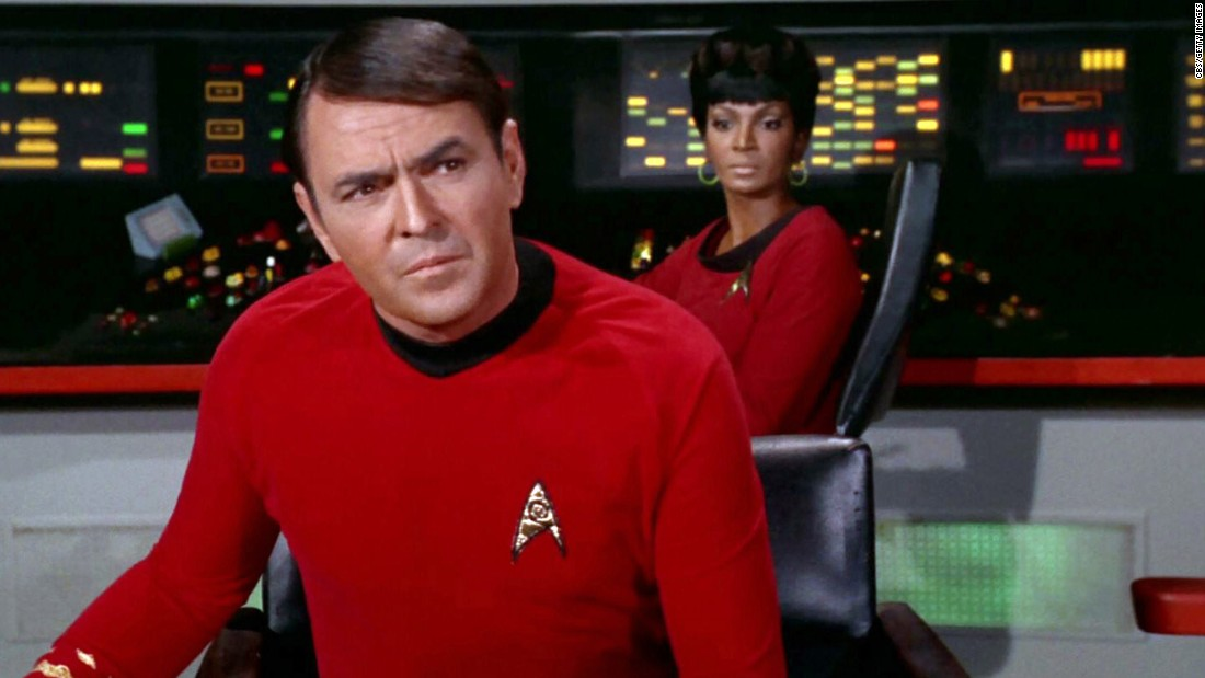 "Fans love imitating the brogue of James Doohan's Scotty, who continued the role in many ""Star Trek"" films. He also stayed in science fiction with the Saturday morning show ""Jason of Star Command."" Doohan died in 2005."