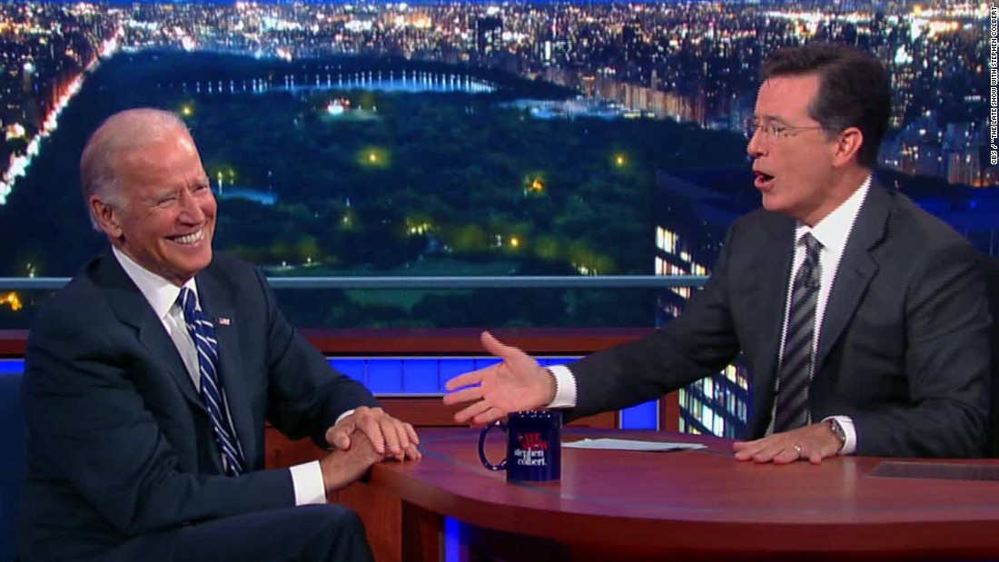 Biden on 'Colbert' -- shockingly frank and noble