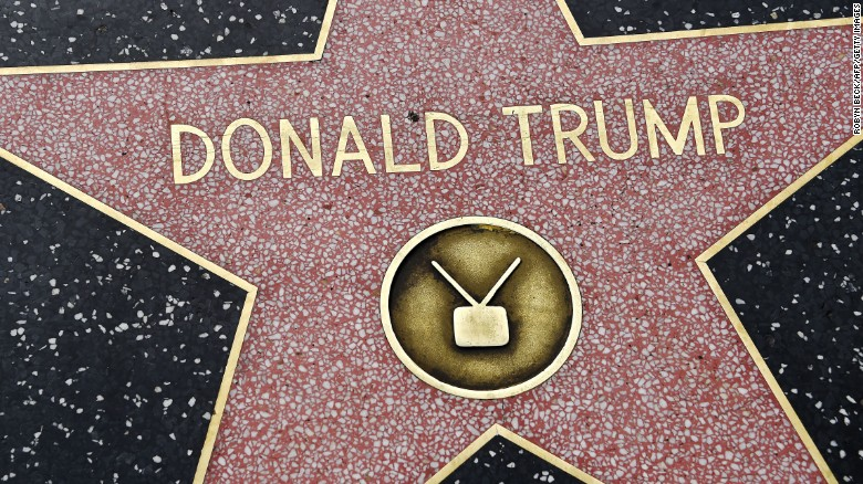 Donald Trump's Hollywood star getting mixed reactions