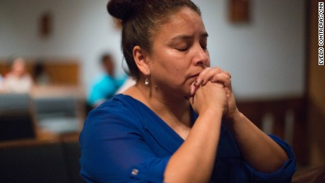 Araceli Cruz, 44, says it took years for parishioners from different backgrounds at Our Lady of Fatima to learn to get along. Now, she's worried the battle will start all over again, as the largely Latino church merges into a new parish.