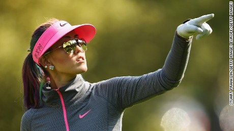 Wie returned to action at the final major of the season after recovering from a finger injury.