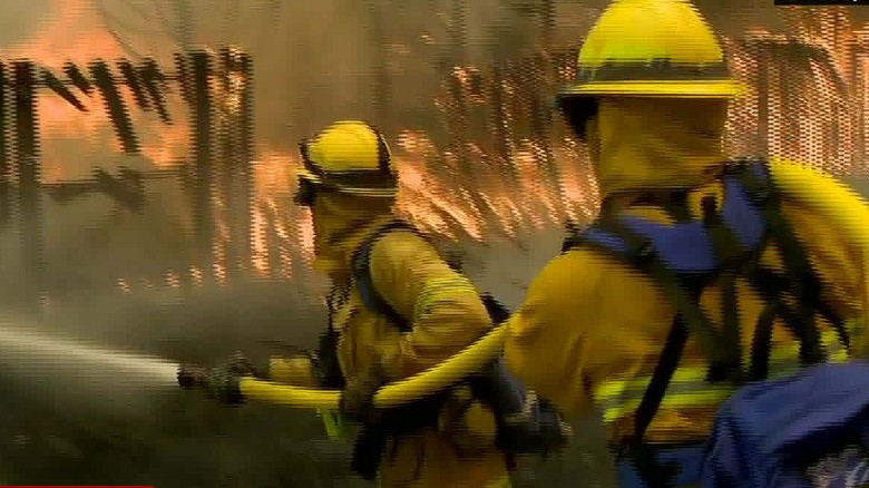Firefighters burned battling California wildfires