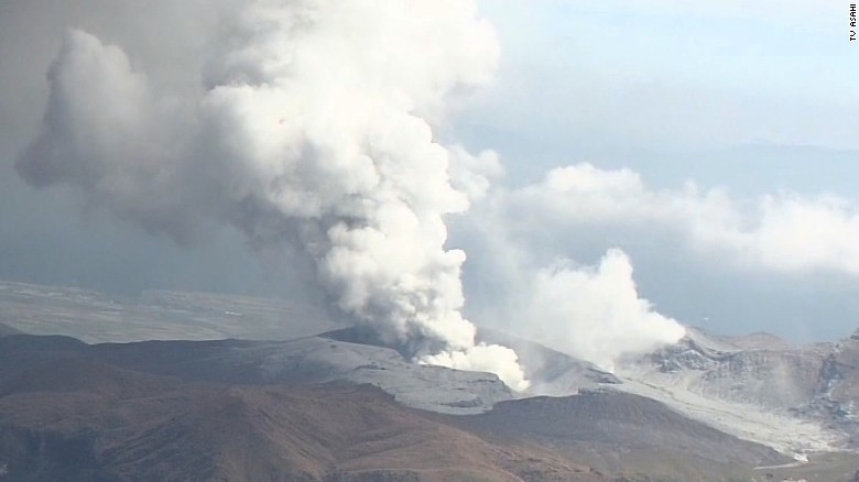 Japanese volcano Mount Aso erupts