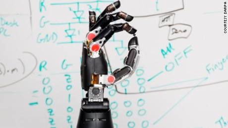 This prosthetic might be able to communicate a sense of touch to its user.