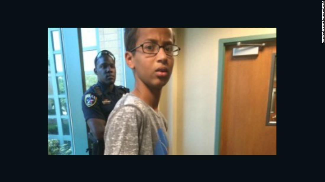 Muslim teen Ahmed Mohamed creates clock, shows teachers, gets arrested