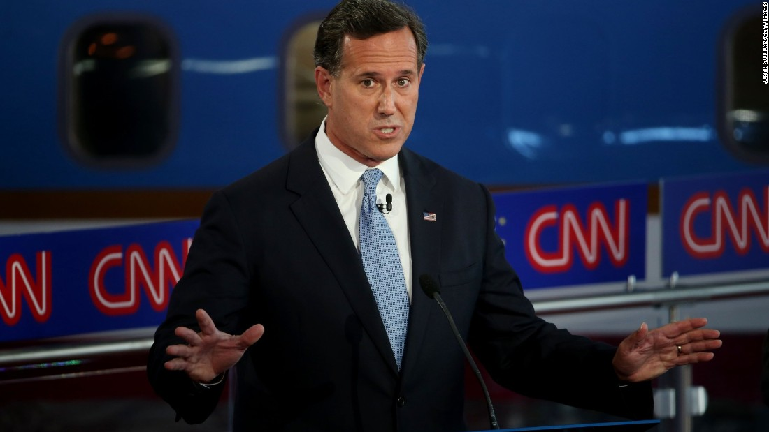 Santorum clashed with Graham on immigration early, and he also had a spirited debate with Pataki over Kim Davis, the woman who refused to issue marriage licenses to same-sex couples in Kentucky.