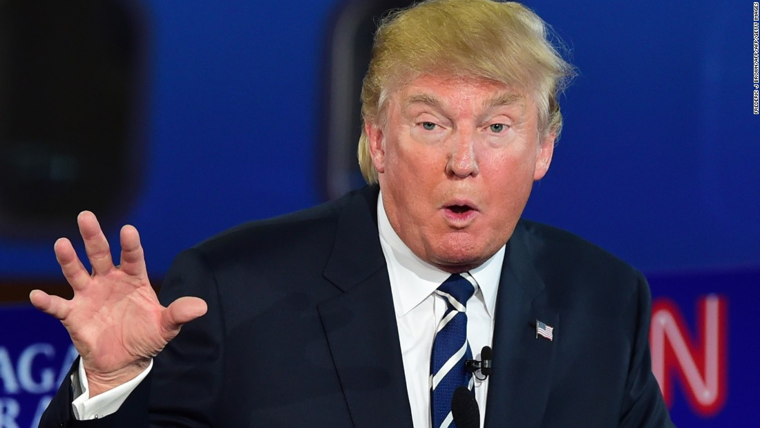 Front-runner Donald Trump stumbles after barrage of policy questions