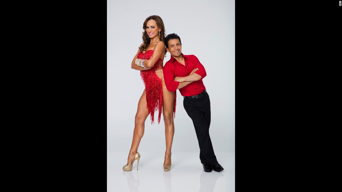 Winning jockey Victor Espinoza, who was partnered with Karina Smirnoff, couldn't win with a human partner. He was voted off in week two of the show.