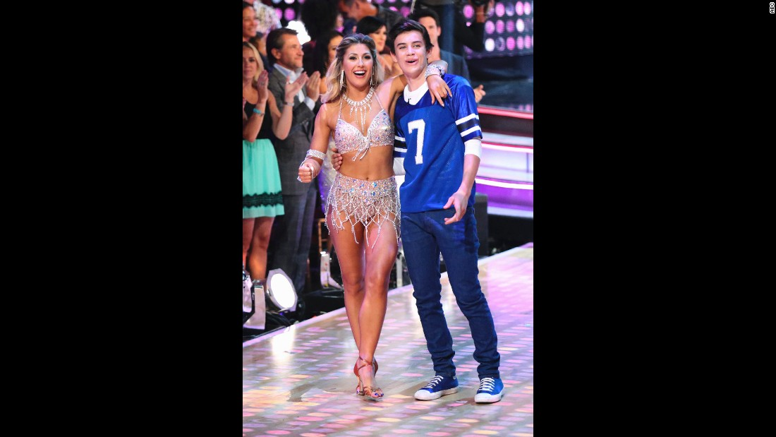 Teen social media sensation Hayes Grier was paired with pro dancer Emma Slater. He was eliminated in week seven.