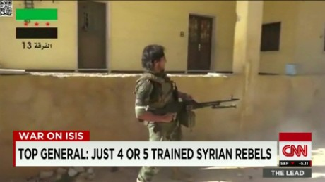 U.S. General: Just 4 to 5 trained Syrian rebels remain