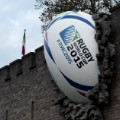 Rugby World Cup ball in Cardiff Castle