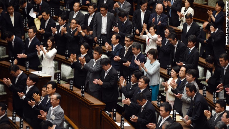 Major change to the Japanese constitution