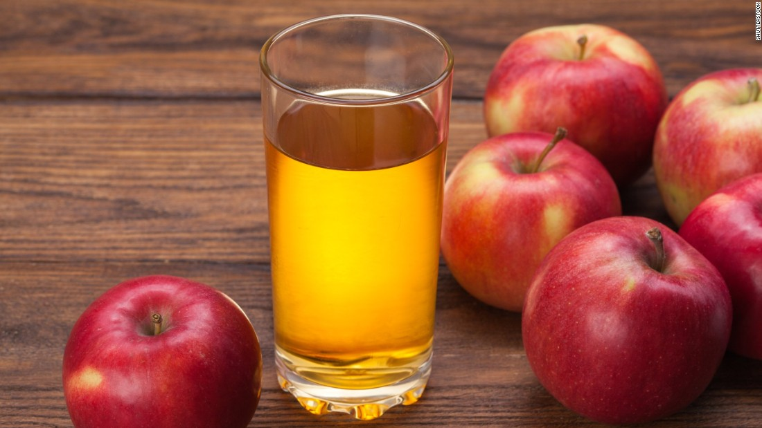 Apple juice accounts for 10.3% of fruit intake among people ages 2 to 19.