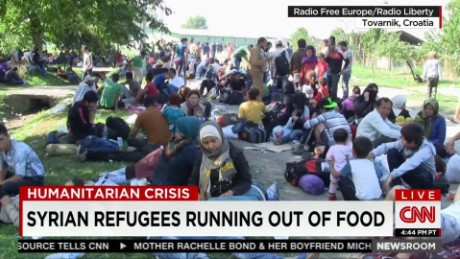 Syrian refugees running out of food