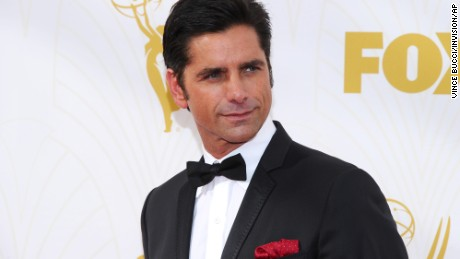 "John Stamos attends the Emmys last month. He's starring in the new Fox series ""Grandfathered."""