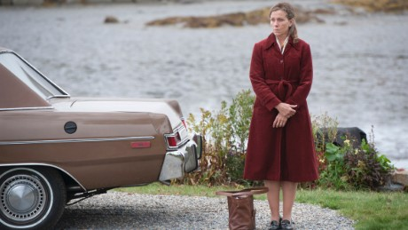 "In this image released by HBO, Frances McDormand appears in a scene from ""Olive Kitteridge."" The show was nominated for a Golden Globe for best TV movie or mini-series on Thursday, Dec. 11, 2014. The 72nd annual Golden Globe awards will air on NBC on Sunday, Jan. 11. (AP Photo/HBO, Jojo Whilden)"