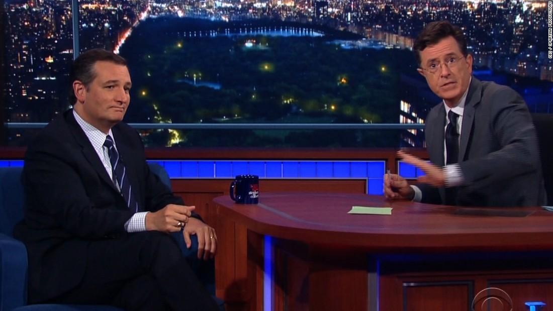 Ted Cruz and Stephen Colbert debate Reagan, gay marriage