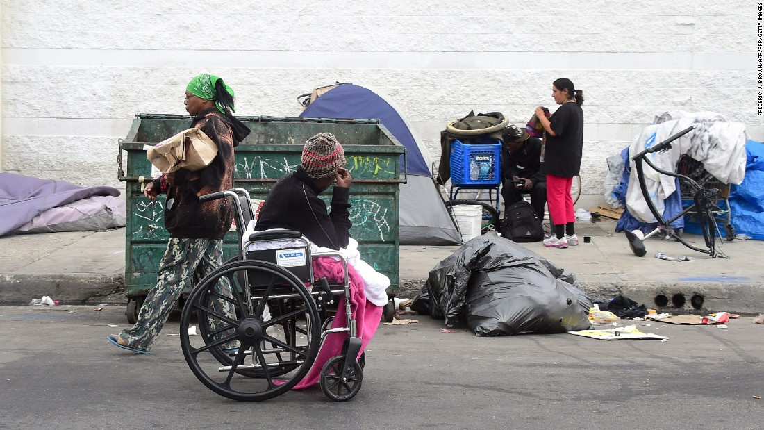 Los Angeles declares 'state of emergency' on homelessness