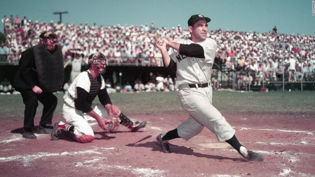 "New York Yankees legend <a href=""http://www.cnn.com/2015/09/23/us/yogi-berra-death/index.html"">Yogi Berra</a>, who helped the team win 10 World Series titles, died September 22, the Yogi Berra Museum said. He was 90."