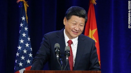 Chinese President Xi Jinping speaks Tuesday, Sept. 22, 2015, at a banquet in Seattle. Xi was in Seattle on his way to Washington, D.C., for a White House state dinner on Friday. (AP Photo/Ted S. Warren)