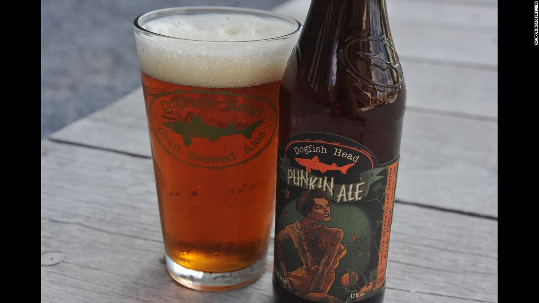 Esteemed Delaware brewery <strong>Dogfish Head</strong> has long been known for its ales, including this <strong>Punkin Ale</strong>, a full-bodied brown ale with hints of pumpkin and brown sugar.