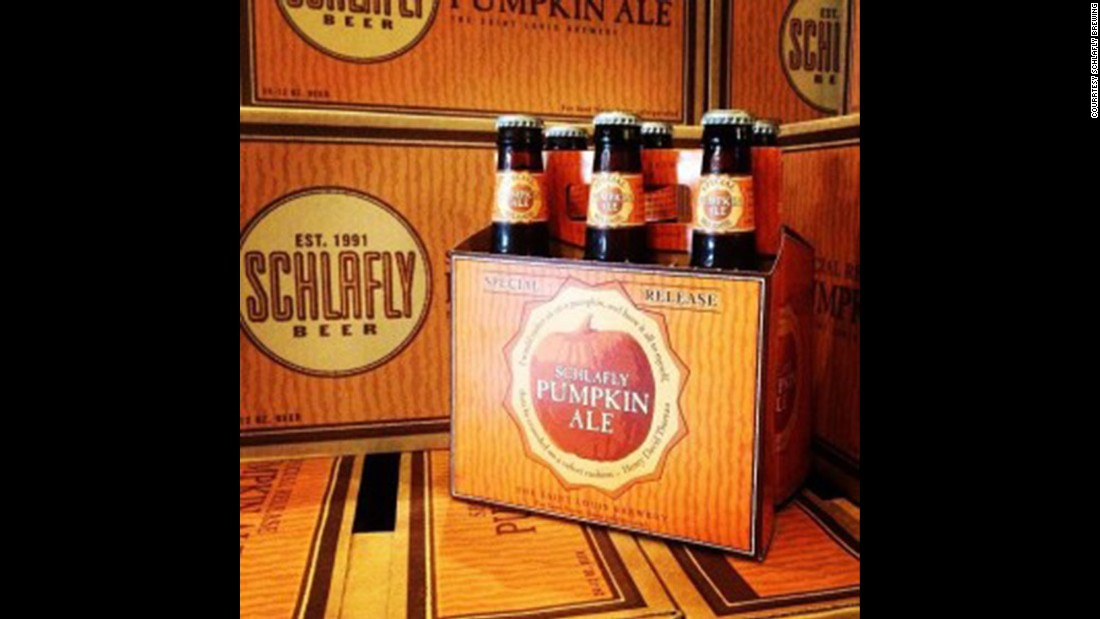 "For you pumpkin-spice lovers, <strong>Schlafly</strong>, a St. Louis-based brewery, crafts a <strong>Pumpkin Ale</strong> ""with full-bodied sweetness for a beer that tastes like pumpkin pie."""