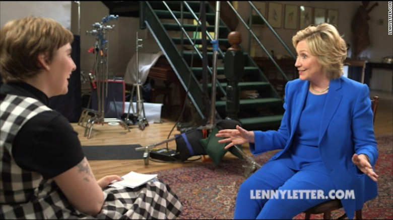 Clinton to Lena Dunham: I'm 'absolutely' a feminist