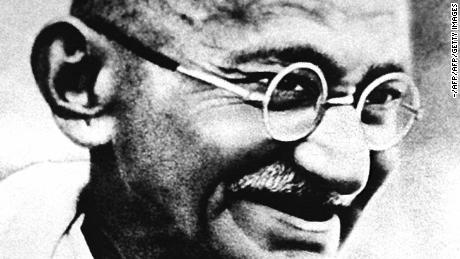 "(FILES) Mohandas Karamchand Gandhi,  pictured in this undated file photo, who according to his great grandson Tushar Gandhi, would have despaired had he survived to see India in 1997.  The father of the nation would have judged changes brought about by 50 years of independence as a personal betrayal, Tushar says. Then, the issue was independence and today it would be a ""total lack or decay of values in public and political life.""  India celebrates its 50th Independence anniversary 15 August.    AFP PHOTO (Photo credit should read -/AFP/Getty Images)"