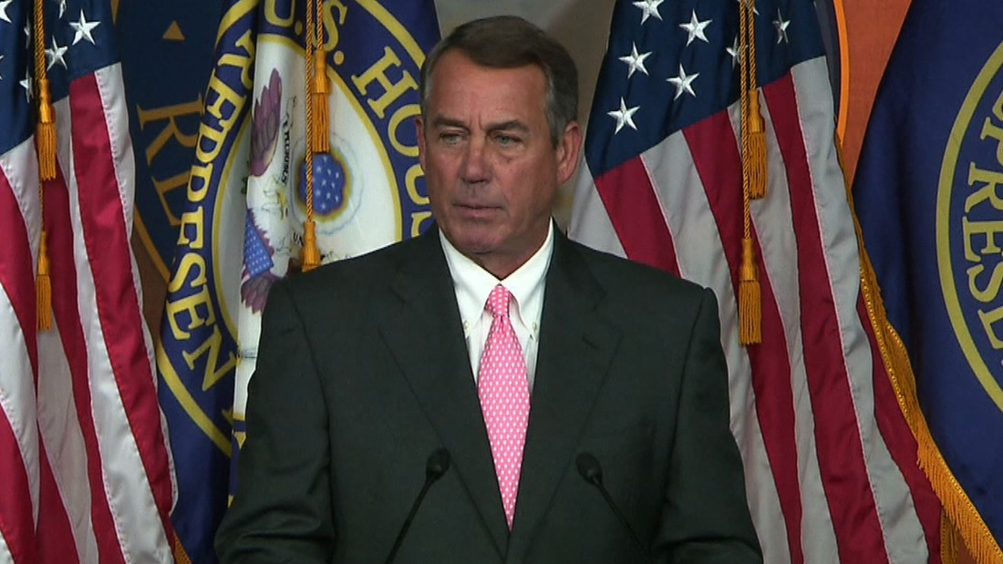 House Speaker John Boehner: 'I decided today is the day'