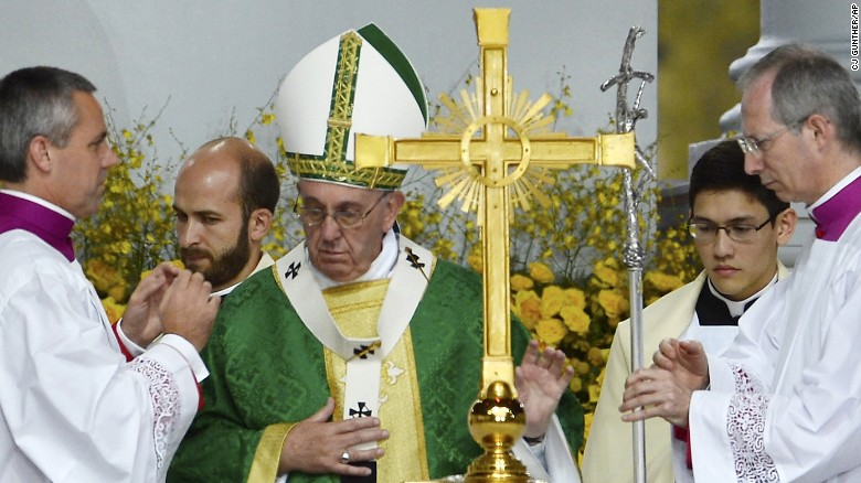 Pope leaves with 'Heart full of gratitude and hope'