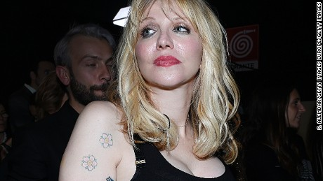 MILAN, ITALY - SEPTEMBER 23: Courtney Love is seen backstage ahead of the Philipp Plein show during Milan Fashion Week Spring/Summer 2016  on September 23, 2015 in Milan, Italy.  (Photo by S. Alemdar/Getty Images)