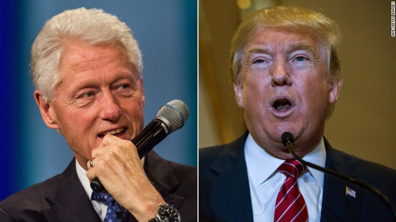 Donald Trump brings up old attacks against Bill Clinton