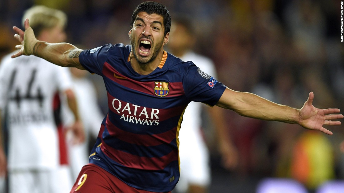 Luis Suarez scored 31 league goals during the 2013-2014 season as Liverpool came close to winning the English Premier League, but then left to join Barcelona.