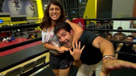 arab world first female wrestler daftari pkg_00010127