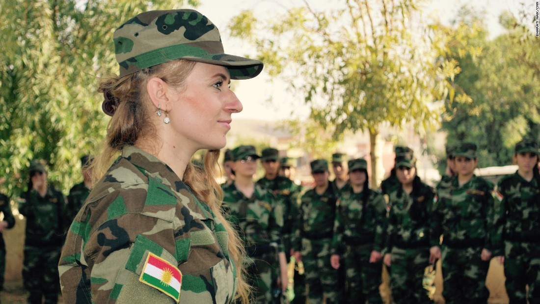 "Shingali says she is ""Proud to see all the women from Yazidi fighting with Pehsmargha everywhere, and the first time that Kurdish women are fighting against ISIS."""