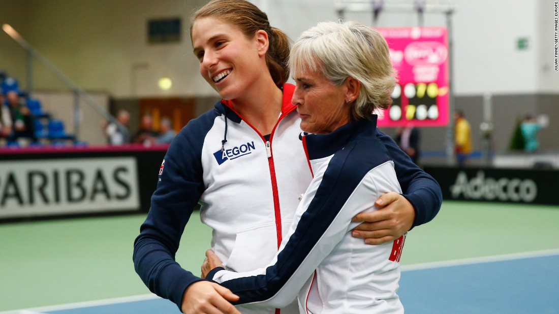 She has become an integral part of the Great Britain Fed Cup team, which is coached by Judy Murray -- mother of two-time grand slam champion Andy.