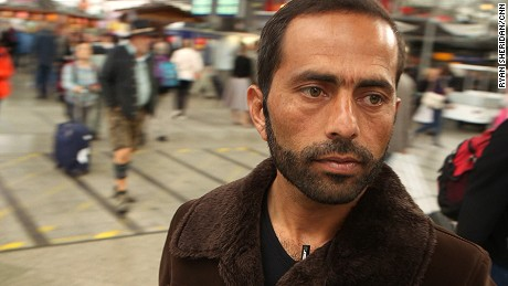 Former Afghan soldier Abdul Wahid Sayeed Khali deserted the army to travel to Europe and seek refuge after the Taliban threatened him and his family.