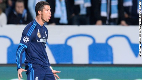 Cristiano Ronaldo scores 500th career goal and draws level with Raul