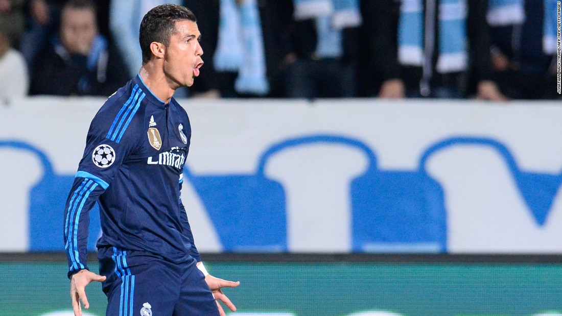 <strong>September 30, 2015:</strong> A night Ronaldo will never forget -- two goals against Malmo in the Champions League took his career tally to 501. He joins the exclusive 500 club, which includes Pele, Puskas and Gerd Muller. The forward's brace drew him level with Raul on 323 goals for Real. The 2-0 victory maintained Los Blancos' 100% start in Europe.