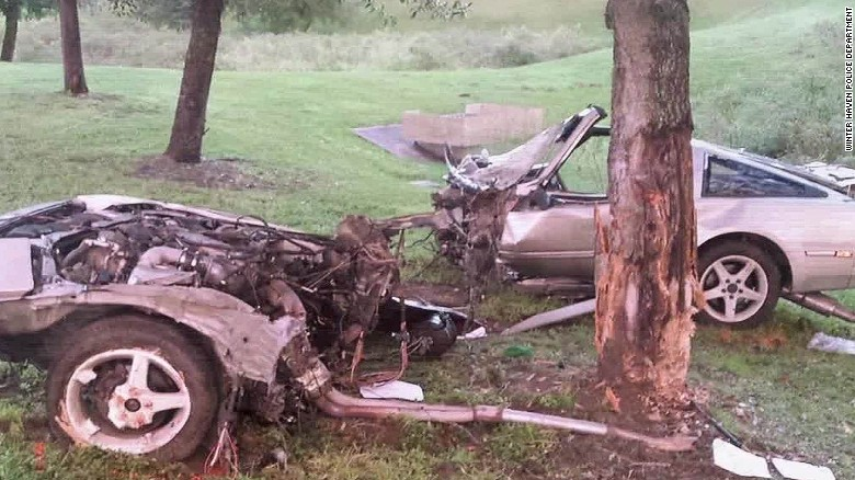 Car Split In Two But He Made It Out Alive Cnn Video