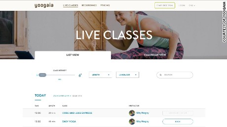 Live-streaming yoga class site Yoogaia appeals to the time-poor.