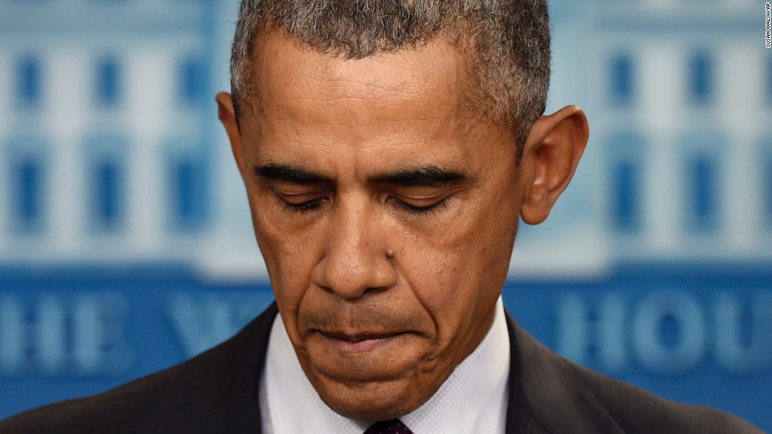 "In response to the shooting on October 1, President Barack Obama delivers the 15th statement of his presidency addressing gun violence. ""Somehow this has become routine,"" he said. ""The reporting is routine. My response here at this podium ends up being routine, the conversation in the aftermath of it. We've become numb to this."""