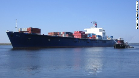 The El Faro: A container ship missing in Hurricane Joaquin.