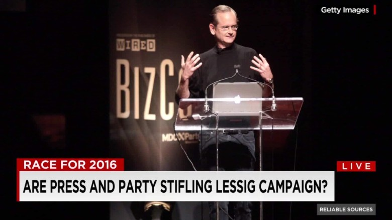 Are press and party stifling Larry Lessig's campaign?