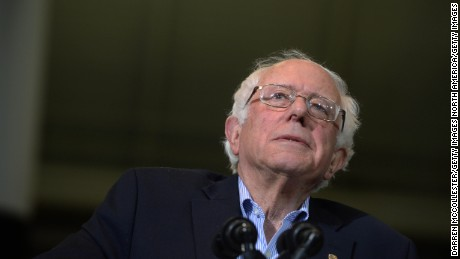 Democratic Presidential candidate Bernie Sanders speaks during a rally at the Boston Convention and Exhibition Center October 3, 2015 in Boston, Massachusetts.
