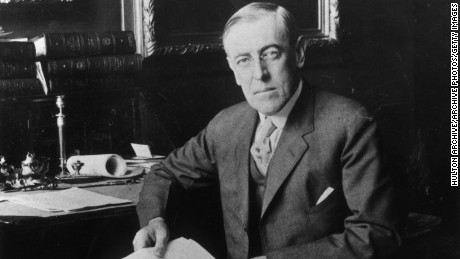 Portrait of U.S. President Woodrow Wilson (1856-1924).