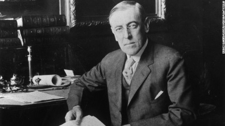 Woodrow Wilson's first presidential news conference was off the record.