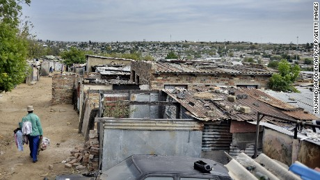 How can we tackle inequality in impoverished areas like the Diepsloot township outside Johannesburg?